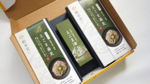 えごま油+えごま蕎麦ギフト250g箱(イメージ)2